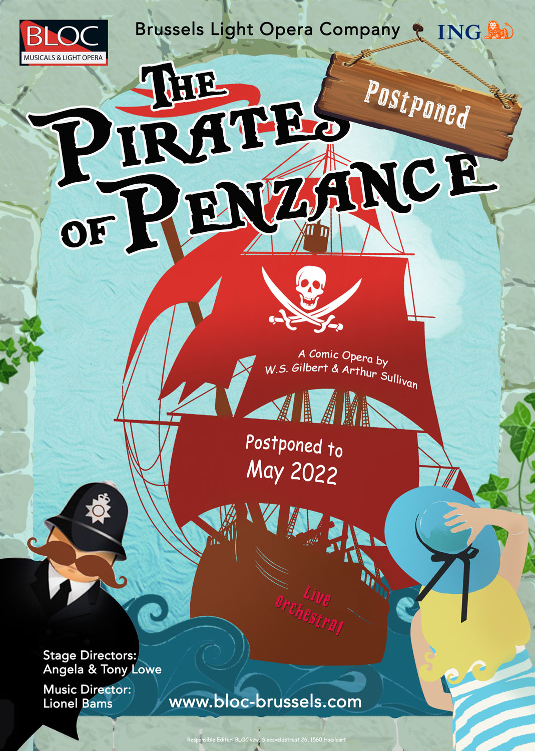 The Pirates of Penzance – poster