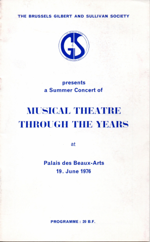 Musical Theatre Through the Years (G&S Society Summer Concert 1976)