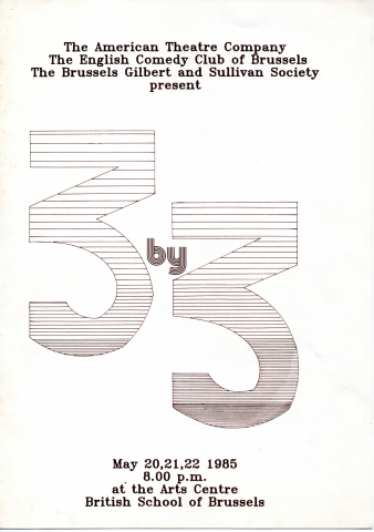 3 by 3 (1985; Trial by Jury – FEATS festival preview) – programme
