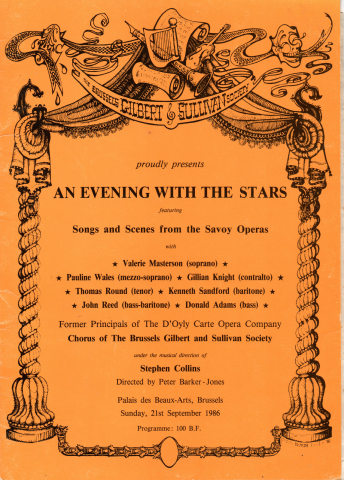 An Evening with the Stars (1986) – programme