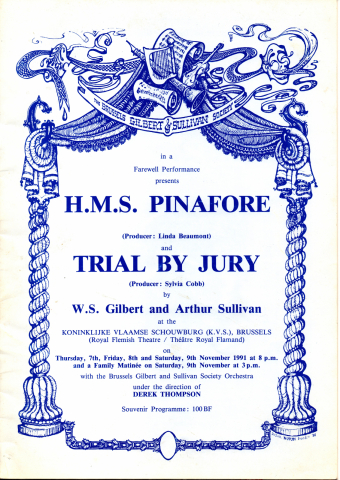 H.M.S. Pinafore / Trial By Jury (1991) – programme