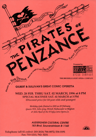The Pirates of Penzance (1996) – programme